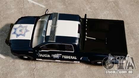 Ford F-150 De La Policia Federal [ELS & EPM] v1 para GTA 4 vista direita