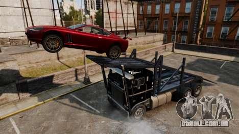 Packer-trampolim para GTA 4 vista de volta