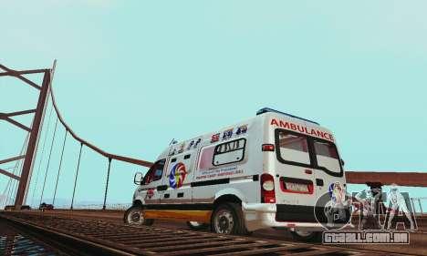 Renault Master PCSO AMBULANCE para GTA San Andreas vista direita