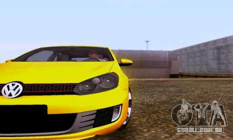 Volkswagen Golf 6 GTI para GTA San Andreas traseira esquerda vista