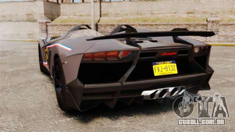 Lamborghini Aventador J Big Lambo para GTA 4 traseira esquerda vista
