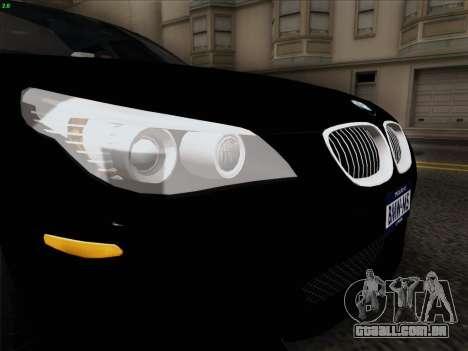 BMW M5 Hamann para GTA San Andreas vista interior