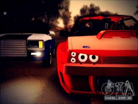 VAZ 21093 diabo para GTA San Andreas traseira esquerda vista