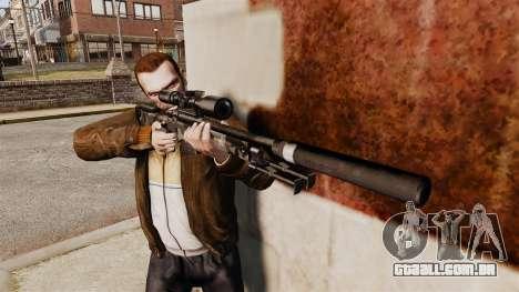 Rifle de sniper L115A1 AW com um silenciador v5 para GTA 4 terceira tela