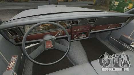 Chevrolet Caprice 1989 para GTA 4 vista de volta