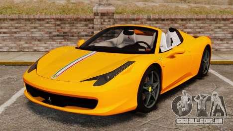 Ferrari 458 Spider 2013 Italian para GTA 4