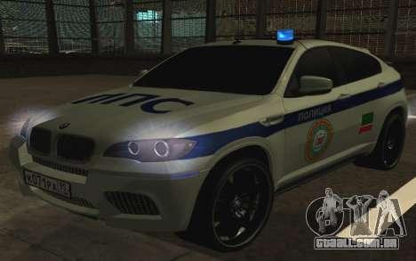 BMW X6 M com piscar luzes PPP para GTA San Andreas