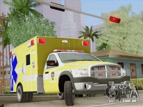 Dodge Ram Ambulance BCFD Paramedic 100 para as rodas de GTA San Andreas