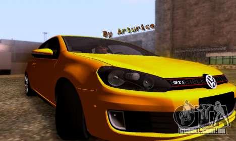 Volkswagen Golf 6 GTI para GTA San Andreas esquerda vista