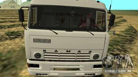 KAMAZ-54112 para GTA San Andreas vista direita
