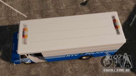 Chevrolet Step-Van 1985 NYPD para GTA 4 vista direita