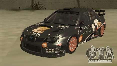 Subaru Impreza WRC Itasha para GTA San Andreas