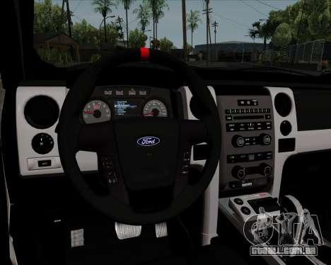 Ford F-150 SVT Raptor 2011 para GTA San Andreas vista inferior