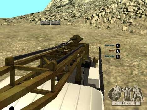 Perfuração de gás 66 para GTA San Andreas vista superior