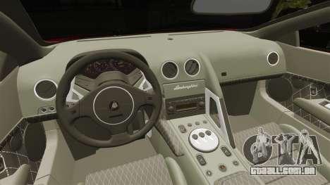 Lamborghini Murcielago 2005 para GTA 4 vista interior