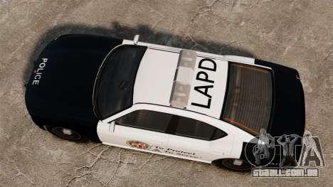 Buffalo policial LAPD v2 para GTA 4 vista direita