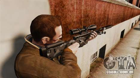 Rifle de sniper L115A1 AW com um silenciador v5 para GTA 4 segundo screenshot