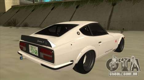Nissan Fairlady Z - 240z para GTA San Andreas traseira esquerda vista