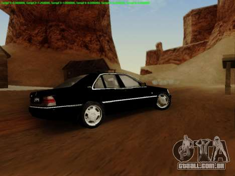 Mercedes-Benz W140 para vista lateral GTA San Andreas