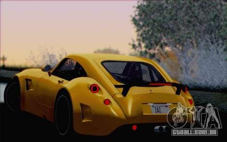 Wiesmann GT MF5 2010 para as rodas de GTA San Andreas