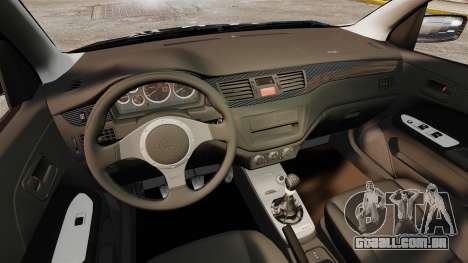 Mitsubishi Lancer Evolution VIII MR CobrazHD para GTA 4 vista interior