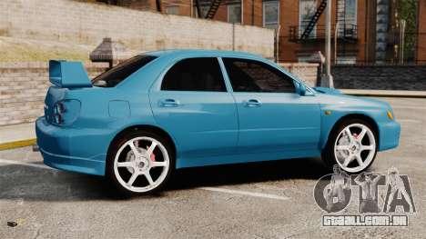 Subaru Impreza para GTA 4 esquerda vista