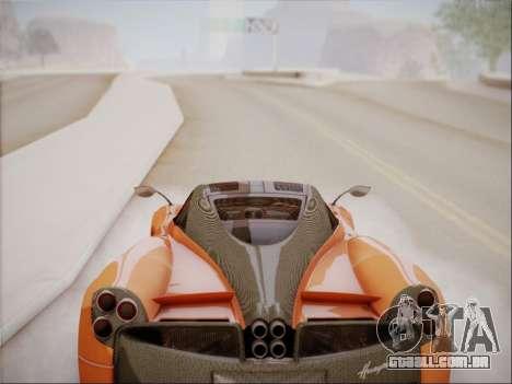 Pagani Huayra para GTA San Andreas vista interior