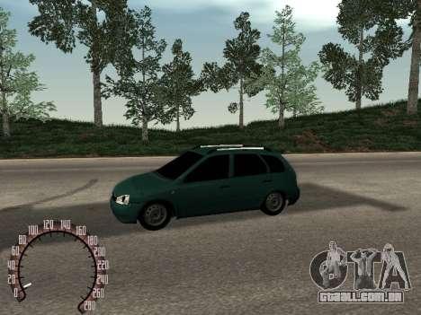 Kalina Lada 1117 para GTA San Andreas esquerda vista