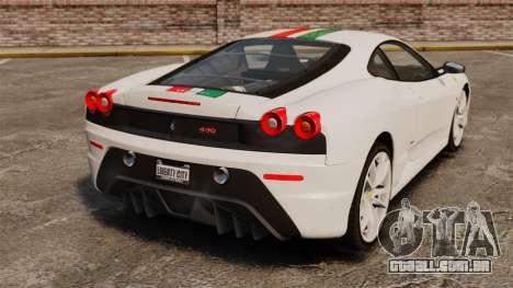 Ferrari F430 Scuderia 2007 Italian para GTA 4 traseira esquerda vista