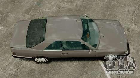 Mercedes-Benz W124 Coupe para GTA 4 vista direita