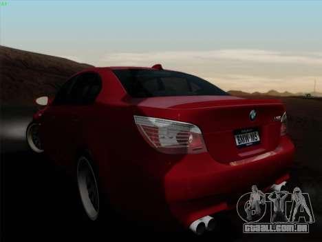 BMW M5 Hamann para GTA San Andreas esquerda vista