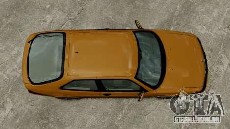 Saab 9-3 Aero Coupe 2002 para GTA 4 vista de volta