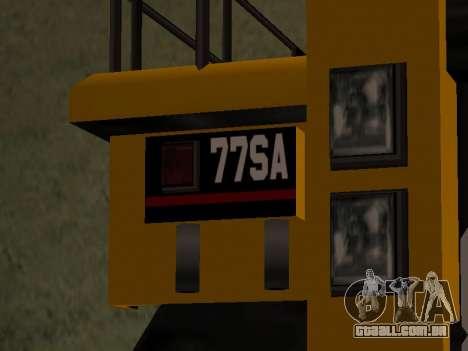 Novo descarregador para GTA San Andreas traseira esquerda vista