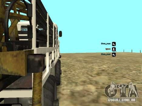 Perfuração de gás 66 para GTA San Andreas vista traseira