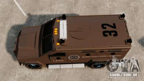 Lenco Bearcat blindado LSPD GTA V para GTA 4 vista direita