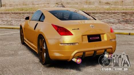 Nissan 350Z Tuning para GTA 4 traseira esquerda vista