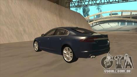Jaguar XFR 2010 v1.0 para GTA San Andreas vista traseira