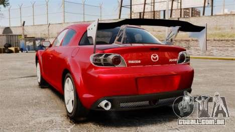 Mazda RX-8 Light Tuning para GTA 4 traseira esquerda vista