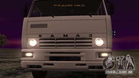 KAMAZ-54112 para GTA San Andreas vista interior