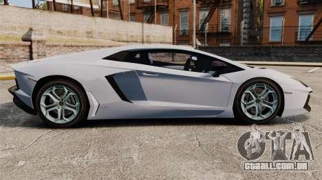 Lamborghini Aventador LP700-4 2012 EPM para GTA 4 esquerda vista