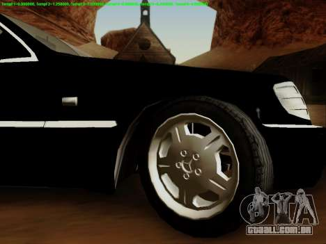 Mercedes-Benz W140 para GTA San Andreas vista interior
