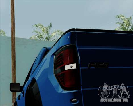 Ford F-150 SVT Raptor 2011 para GTA San Andreas vista superior