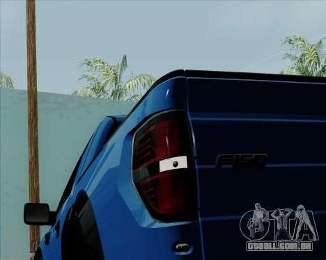 Ford F-150 SVT Raptor 2011 para GTA San Andreas vista superior