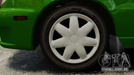 Daewoo Lanos FL 2001 US para GTA 4 traseira esquerda vista