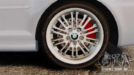 BMW M3 E46 v1.1 para GTA 4 vista de volta