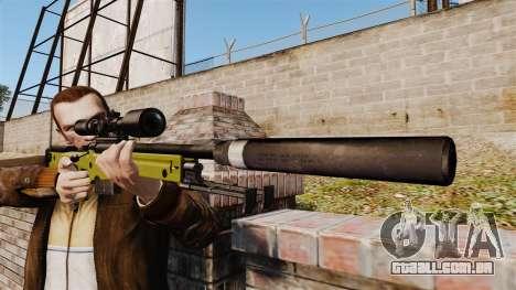 Rifle de sniper L115A1 AW com um silenciador v3 para GTA 4 terceira tela