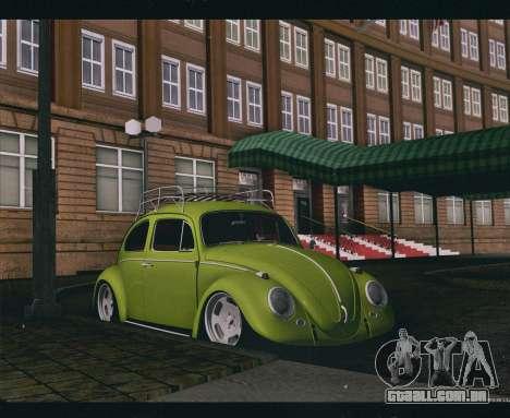 Volkswagen Beetle 1966 para GTA San Andreas traseira esquerda vista