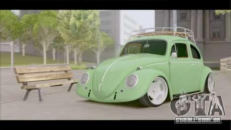 Volkswagen Beetle 1966 para GTA San Andreas vista traseira