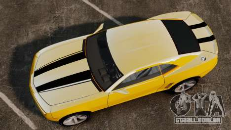 Chevrolet Camaro Bumblebee para GTA 4 vista direita