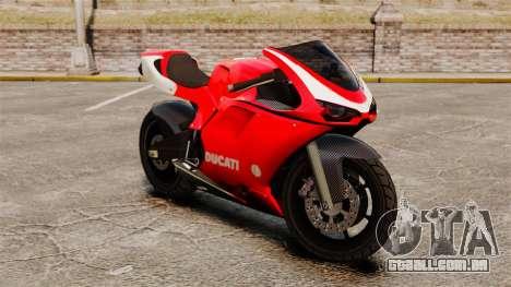 Ducati 1098 para GTA 4 esquerda vista